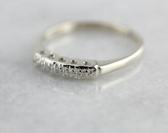 Five Diamond White Gold Wedding Band 1VNZ7Q-P