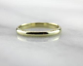 Bright Green Gold Band with Slight Pattern  YHNMQ3-N