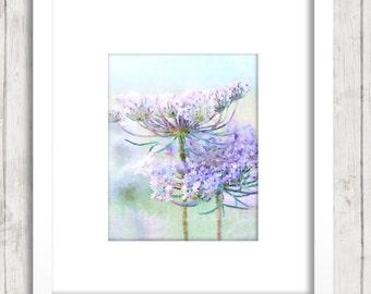 Purple Lavender Floral Watercolor Art Print, Lavender Wild Flowers, Pastel Cottage Decor, Bedroom Bathroom Living Room, Lavender Wall Art