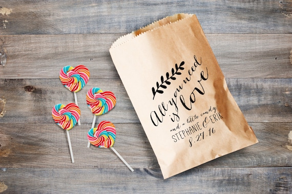 Wedding Favor Bags For Cookies : Candy Bar Favor Bags, Cookie Favor Bags, Custom Wedding Favor Bags ...