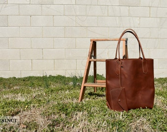 Leah Tote - Leather Tote - Handmade Leather Tote