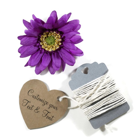 ... Tags - Wedding Favor Tags - Kraft Brown Heart Tags - Die Cut Heart