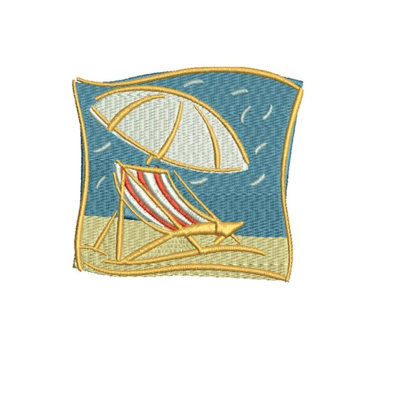 Embroidery design beach chair and umbrella files