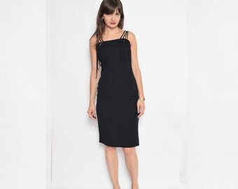 Vintage 90's Strappy Black Mini Dress