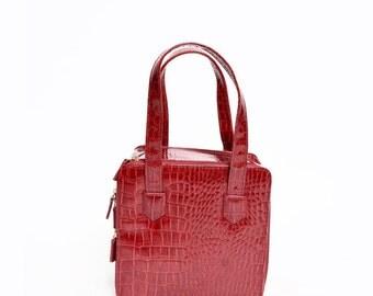 Vintage Red Patent Leather 1990's Mini Handbag