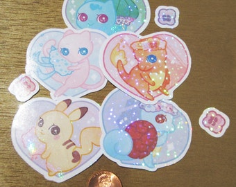 Flowery Pokemon Sticker Set