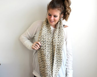 Knit Scarf Chunky Cowl Oatmeal - Bowie Cowl