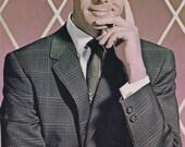 Vintage Large Johnny Carson Postcard Las Vegas Sahara Hotel Promo
