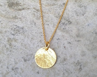 Gold pendant etsy gold disc necklace gold chain necklace gold pendant necklace gold necklace circle aloadofball Image collections