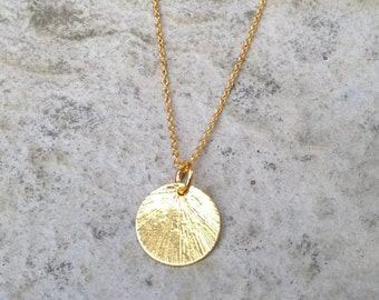 Gold pendant etsy gold disc necklace gold chain necklace gold pendant necklace gold necklace circle aloadofball