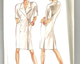 6098 New Look Sewing Pattern Double Breasted Dress UNCUT Size 8 10 12 14 16 18