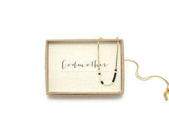GODMOTHER || Morse Necklace, Godmother Gift, Godmother Necklace, Godparent Gift, Will You Be My Godmother, God Mother Gift Godmother Jewelry