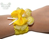 Yellow Candy Corsage, Yellow Lollipop Corsage, Wedding Corsage, Unique Prom Corsage, Homecoming Corsage, Candy Corsage, Spring Weddings