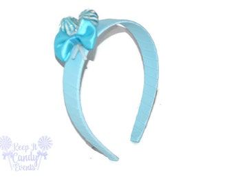 Light Blue Lollipop Headband , Blue Headband, Blue Candy Headband, Blue Flowergirl Accessory, Blue Sweet Sixteen Ideas, Blue Wedding Ideas
