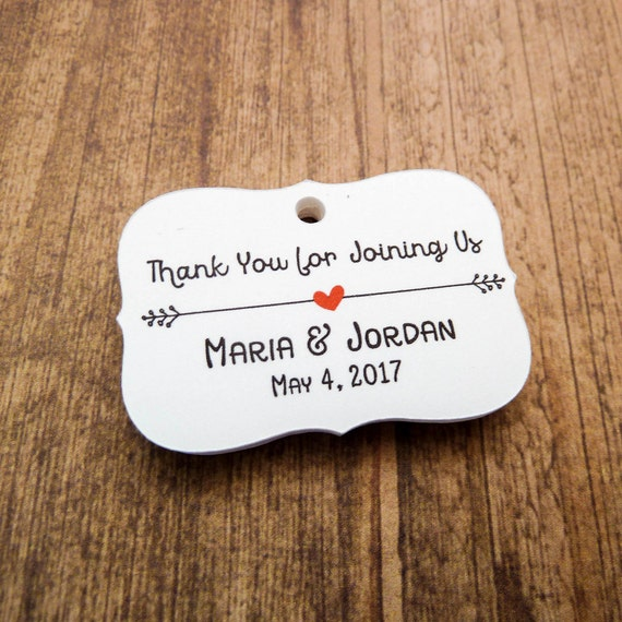 Embossed Wedding Gift Tags : Personalized Wedding Favor TagsWedding TagCustom Tag2.0 inch ...