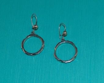 BoHo Hoop Dangle Earrings in Sterling Silver