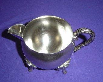 Vintage  (Silverplate Holloware) CREAMER With GRAPES VINES Decor