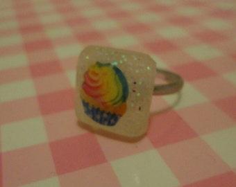Blue Cupcake Ring