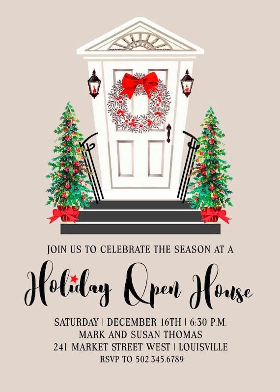 holiday open house invitation holiday party invitation open