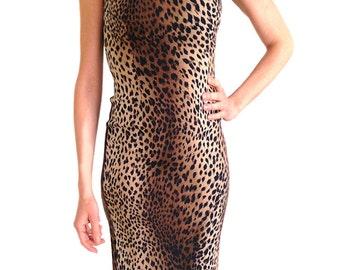 MOSCHINO bodycon dress leopard print