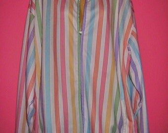 Vintage Rainbow Stripe Jacket, Size 2XL