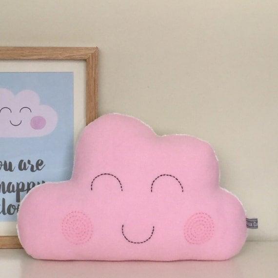 Glückliche Wolke Kissen Rosa Wolke Kinderzimmer von AliciaCambridge