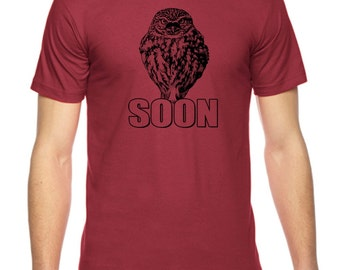 Evil Owl Mastermind Graphic American Apparel Fine Jersey T-shirt Rc14343