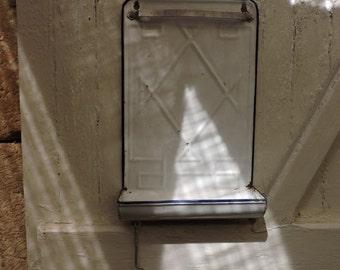 Kitchen Utensils Holder - French Vintage White Enamel Ladle Rack -  Country Kitchen Decor - Wall Hanging Utensils Rack - French Kitchenalia
