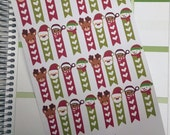 Christmas Checklist Stickers / Reindeer, Santa, Snowman Checklists Stickers for ECLP / Holiday Checklist Flag Stickers / Xmas Checklists