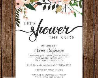 Let's Shower the Bride -- Bridal Shower Invitation