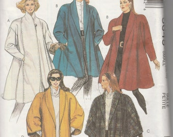 McCall's 5645  Misses' Lined Coat Or Unlined Cape in two lengths  Size Size (10-12)  UNCUT