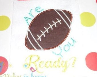 Are Your Ready Embroidery Football Applique Design