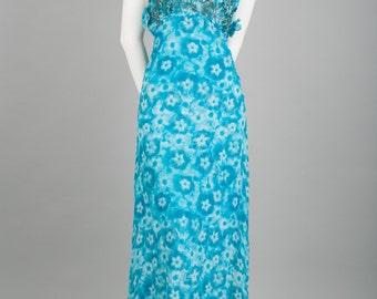 Katy long silk dress