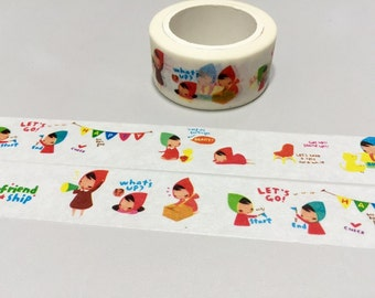 cute girl washi tape 10M my little girl cartoon fairytale little red riding hood red hat stickers tape friendship girl diary scrapbook