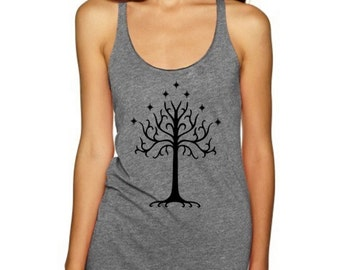 Tree of gondor women and men tank top Shirts Tank Top T Shirt Singlet - Size S M L XL