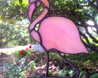 Stained Glass Flamingo Suncatcher - Pink Flamingo