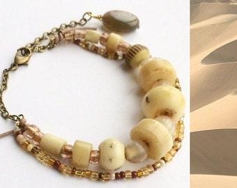 Bracelet with bone beads