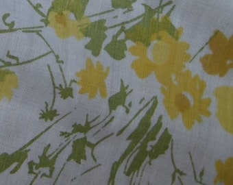 Double Flat Sheet Yellow Flowers