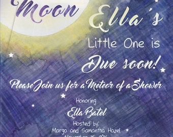 Baby Shower Invitation: Fly Me to the Moon