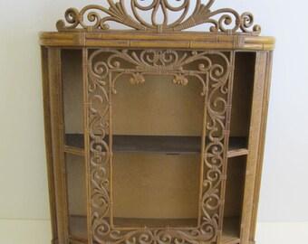 Homco, Homco 3609, Homco Shadow Box, Homco Curio Cabinet, Syroco Shelf, Syroco Curio Cabinet Syroco 3609 Curio Cabinets Shadow Boxes Shelves