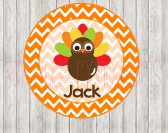 Turkey Personalized Printable DIGITAL FILE - DIY - Heat Transfer Sticker - Personlized Iron On Transfer- Personalized Iron On
