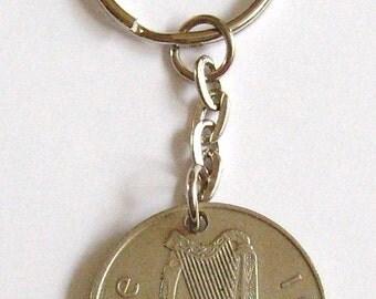 1969 Old Large 10p Ten Pence Deich bPingin Irish Coin Keyring Key Chain Fob 48th Birthday