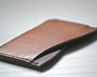 Leather Card Wallet, Leather Slim Wallet, Leather Minimalist Wallet, Leather Card Holder