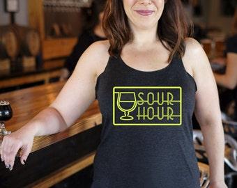 Craft beer shirt- Sour Hour- women's Racerback Tank