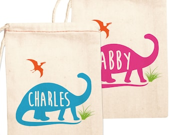 Dinosaur Birthday Party Favor Bags, Personalized Dinosaur Party Favors, Custom Dinosaur Birthday Favors, Dinosaur Party Favor Bags