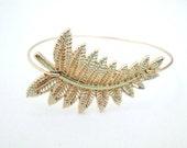 Fern Bracelet, Leaf Bracelet, Fern Leaf,Leaf Bangle, Fern Bangle, Fern Jewelry,Nature Jewelry,Leaf Bracelet, Botanical Bracelet
