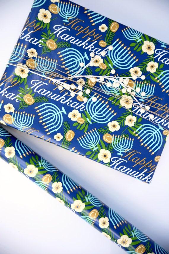 hanukkah wrapping paper