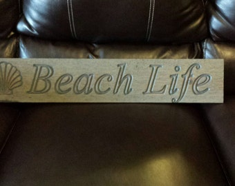 Beach House Sign beach art beach decor wood sign drift wood rustic wall art ocean and beach living 5.5x30x.75