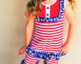 4th of July Stars and Stripes boutique outfit Independence Day