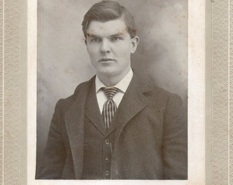 Antique Photo of Serious-Looking Gent